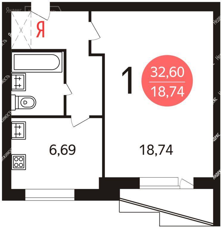 Продажа однокомнатной квартиры Москва, метро Коньково, улица Академика Арцимовича 15, цена 9570000 рублей, 2021 год объявление №568260 на megabaz.ru