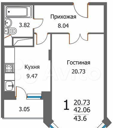Продажа однокомнатной квартиры деревня Федурново, улица Авиарембаза 11, цена 3650000 рублей, 2021 год объявление №596444 на megabaz.ru