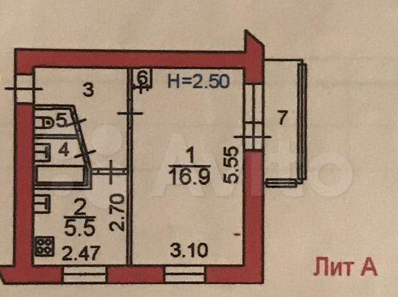 Продажа однокомнатной квартиры Пересвет, улица Королёва 10, цена 1950000 рублей, 2021 год объявление №570867 на megabaz.ru