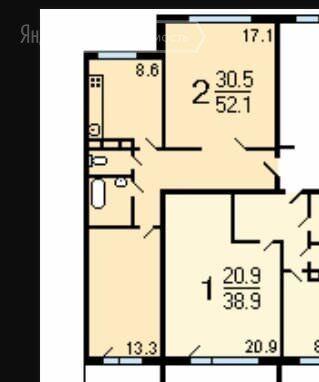 Продажа двухкомнатной квартиры Зеленоград, метро Пятницкое шоссе, цена 8100000 рублей, 2021 год объявление №570606 на megabaz.ru