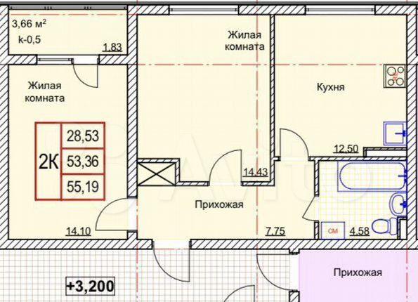 Продажа двухкомнатной квартиры село Павловская Слобода, Молодёжная улица 46А, цена 3850000 рублей, 2021 год объявление №575572 на megabaz.ru