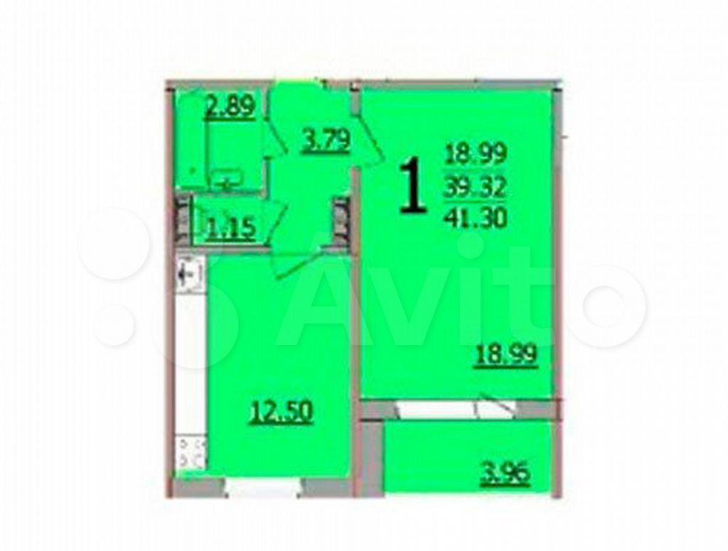 Продажа однокомнатной квартиры деревня Островцы, Баулинская улица 1, цена 5750000 рублей, 2021 год объявление №656526 на megabaz.ru