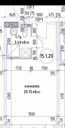 Продажа студии Москва, Востряковское шоссе 7с1, цена 5950000 рублей, 2021 год объявление №580478 на megabaz.ru