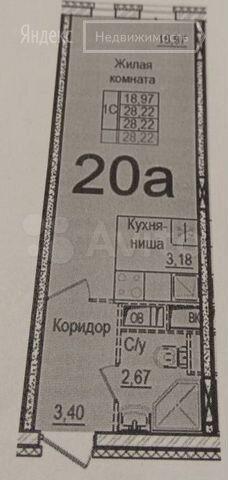 Продажа студии рабочий посёлок Нахабино, Покровская улица 5к3, цена 4600000 рублей, 2021 год объявление №572400 на megabaz.ru