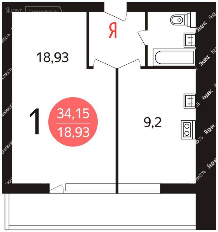 Продажа однокомнатной квартиры Москва, метро Ясенево, Ясногорская улица 17к2, цена 9900000 рублей, 2021 год объявление №572986 на megabaz.ru