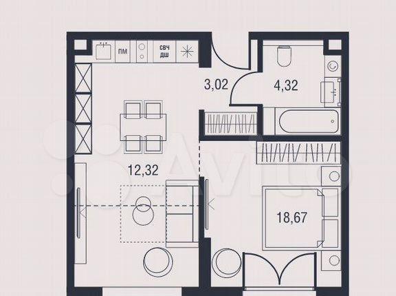 Продажа однокомнатной квартиры Москва, метро Калужская, цена 13270950 рублей, 2021 год объявление №575208 на megabaz.ru
