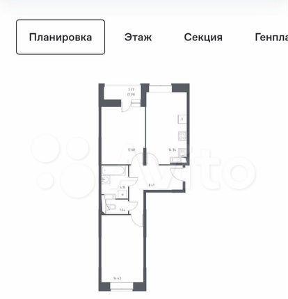 Продажа двухкомнатной квартиры деревня Мисайлово, цена 7600000 рублей, 2021 год объявление №575755 на megabaz.ru