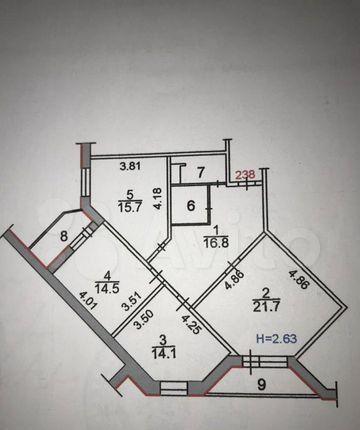 Продажа трёхкомнатной квартиры Сергиев Посад, улица Глинки 8А, цена 9500000 рублей, 2021 год объявление №595895 на megabaz.ru