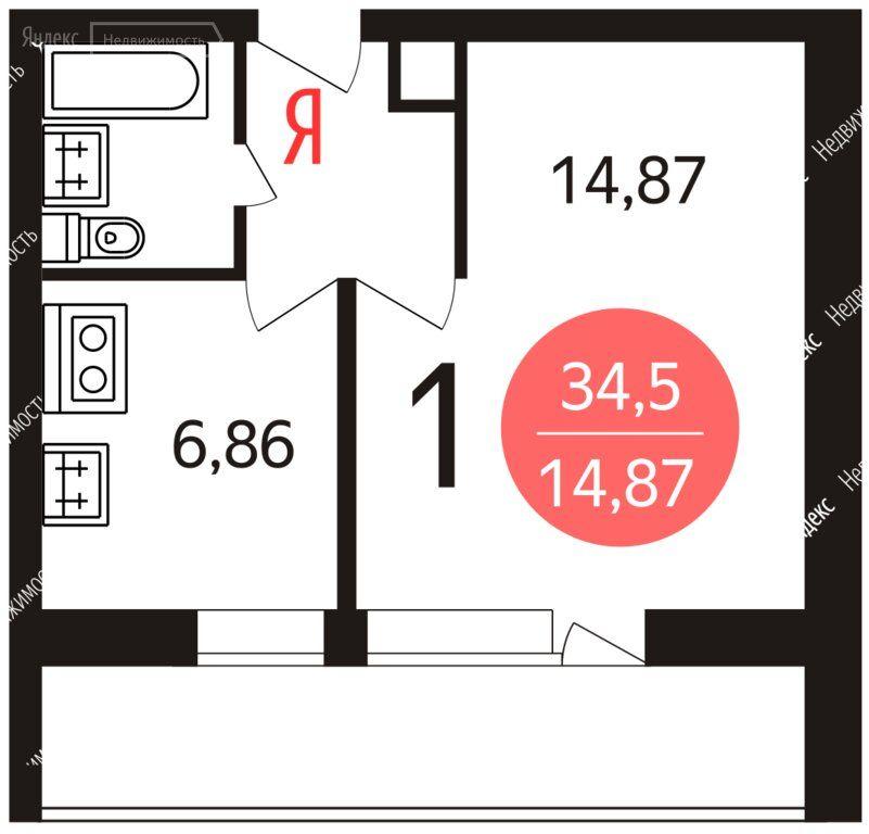 Продажа однокомнатной квартиры Москва, метро Текстильщики, Саратовская улица 3к2, цена 8740000 рублей, 2021 год объявление №577452 на megabaz.ru