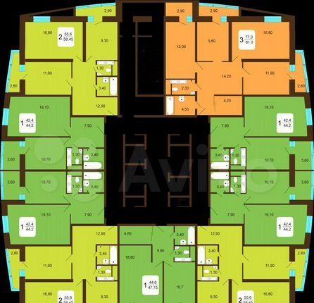 Продажа двухкомнатной квартиры Лобня, Центральная улица 4, цена 7000000 рублей, 2021 год объявление №578104 на megabaz.ru