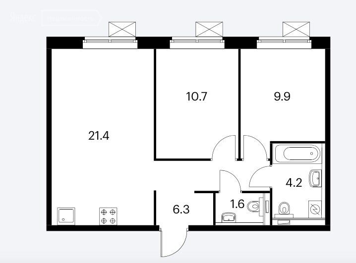 Продажа двухкомнатной квартиры Москва, метро Братиславская, Люблинская улица 78к2, цена 11000000 рублей, 2021 год объявление №579014 на megabaz.ru