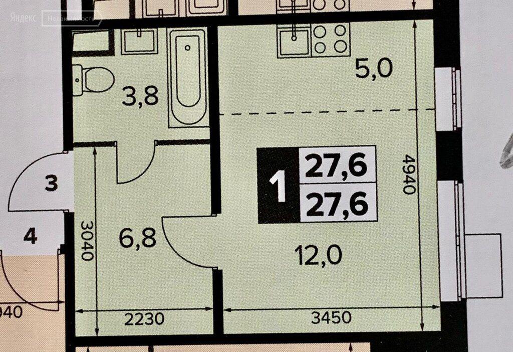 Продажа однокомнатной квартиры поселок Битца, Южный бульвар 5, цена 5100000 рублей, 2021 год объявление №668296 на megabaz.ru