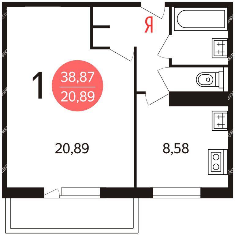 Продажа однокомнатной квартиры Москва, метро Отрадное, улица Хачатуряна 2, цена 8700000 рублей, 2021 год объявление №580008 на megabaz.ru