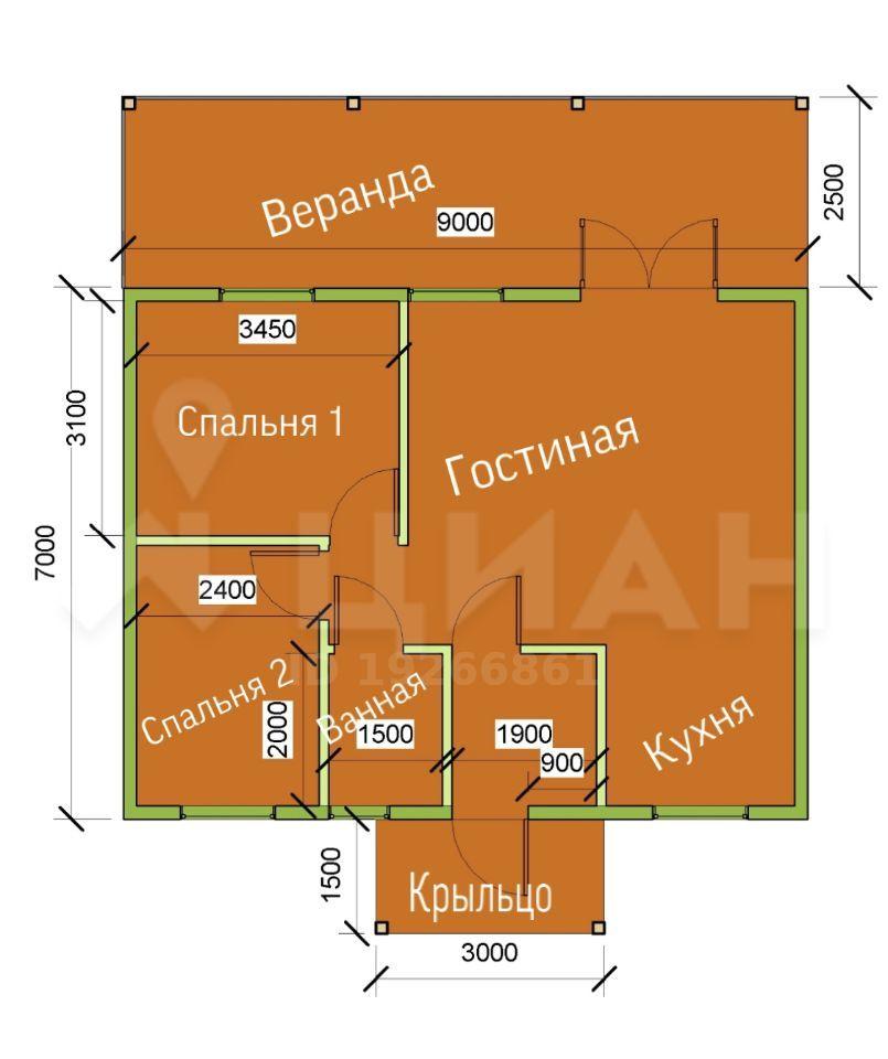 Продажа дома поселок Часцы, цена 3880000 рублей, 2020 год объявление №429462 на megabaz.ru