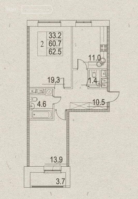 Продажа двухкомнатной квартиры поселок Развилка, метро Домодедовская, Римский проезд 1, цена 10300000 рублей, 2021 год объявление №581386 на megabaz.ru