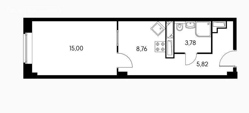 Продажа однокомнатной квартиры Балашиха, метро Щелковская, цена 4500000 рублей, 2021 год объявление №581338 на megabaz.ru