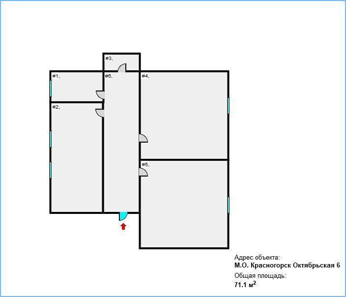 Продажа двухкомнатной квартиры Красногорск, Октябрьская улица 6, цена 9200000 рублей, 2021 год объявление №581933 на megabaz.ru