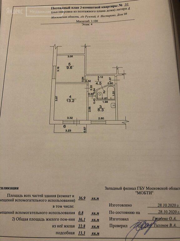Продажа двухкомнатной квартиры деревня Нестерово, цена 2200000 рублей, 2021 год объявление №583965 на megabaz.ru