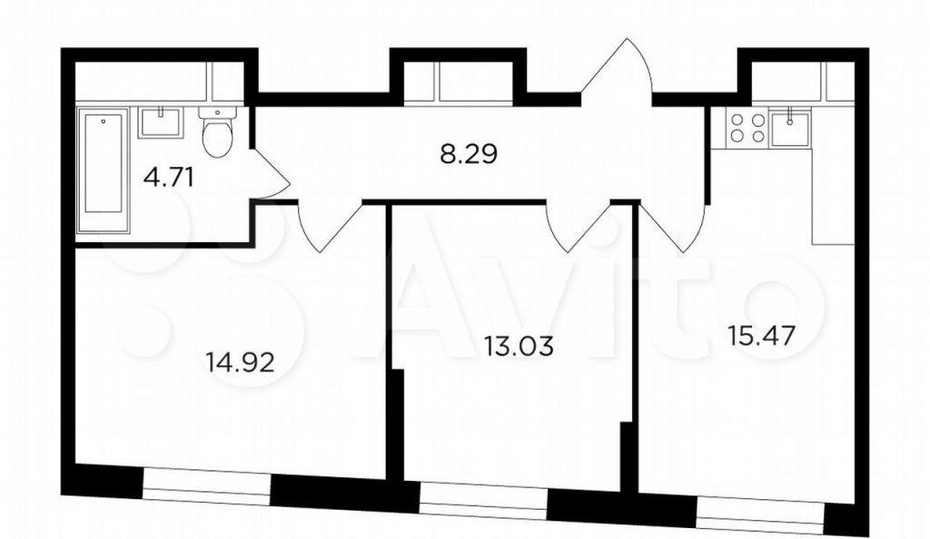 Продажа двухкомнатной квартиры Москва, метро Кунцевская, улица Петра Алексеева 12к1, цена 22500718 рублей, 2021 год объявление №626115 на megabaz.ru