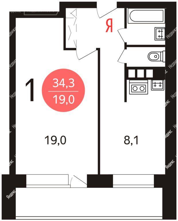 Аренда однокомнатной квартиры Москва, метро Алексеевская, проспект Мира 91к3, цена 40000 рублей, 2021 год объявление №1345747 на megabaz.ru
