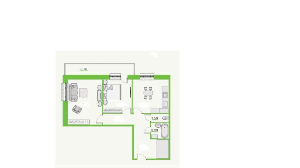Аренда двухкомнатной квартиры деревня Голубое, метро Пятницкое шоссе, цена 25000 рублей, 2021 год объявление №1347793 на megabaz.ru