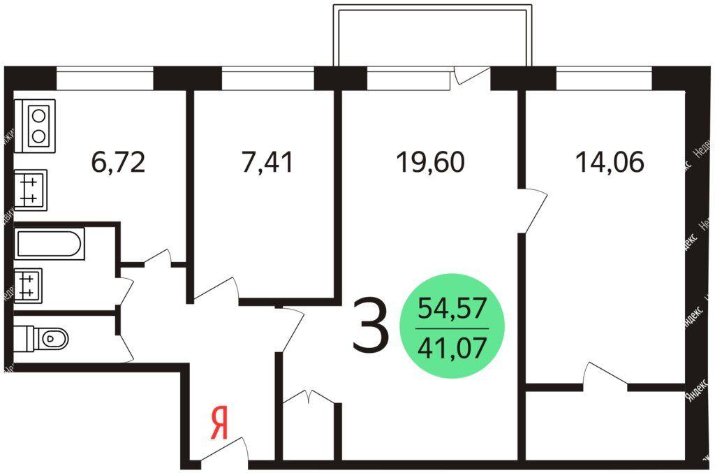 Продажа трёхкомнатной квартиры Москва, метро Электрозаводская, Семёновская набережная 2/1с2, цена 14000000 рублей, 2021 год объявление №587859 на megabaz.ru
