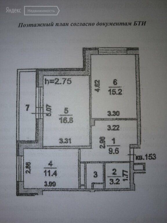 Продажа двухкомнатной квартиры поселок Аничково, метро Щелковская, цена 6200000 рублей, 2021 год объявление №597012 на megabaz.ru