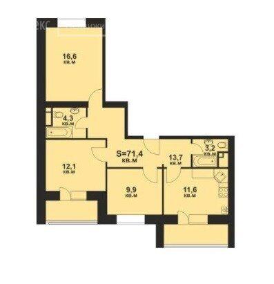 Продажа трёхкомнатной квартиры село Озерецкое, бульвар Радости 30, цена 5200000 рублей, 2021 год объявление №588475 на megabaz.ru