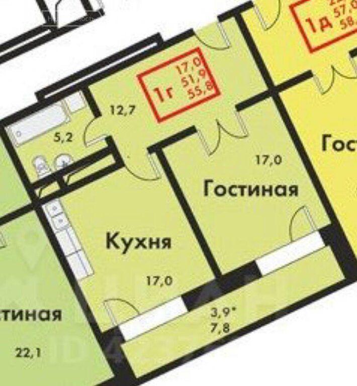 Продажа однокомнатной квартиры Котельники, улица Строителей 5, цена 7200000 рублей, 2021 год объявление №588414 на megabaz.ru
