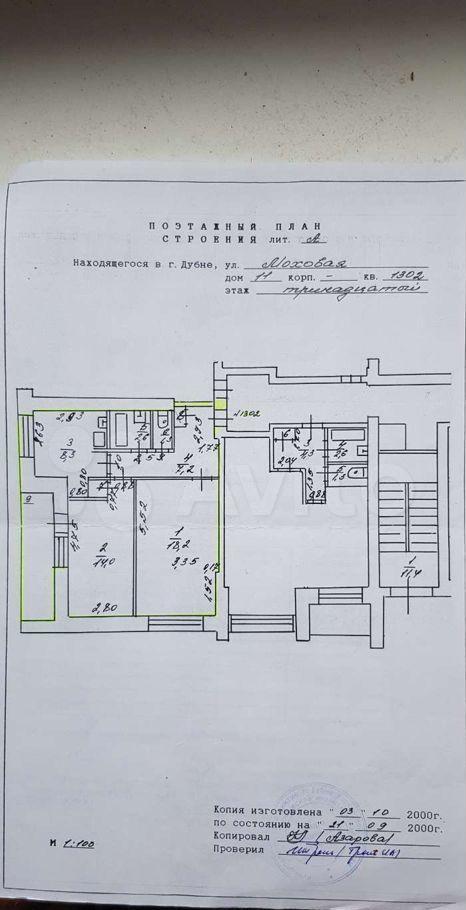Продажа двухкомнатной квартиры Дубна, Моховая улица 11, цена 5900000 рублей, 2021 год объявление №611405 на megabaz.ru
