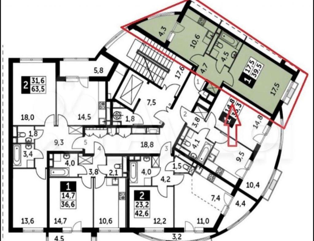 Продажа однокомнатной квартиры поселок Развилка, метро Зябликово, цена 7200000 рублей, 2021 год объявление №609083 на megabaz.ru