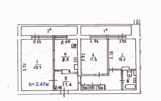 Продажа трёхкомнатной квартиры Москва, метро Южная, Кировоградская улица 8к4, цена 17390000 рублей, 2021 год объявление №573650 на megabaz.ru