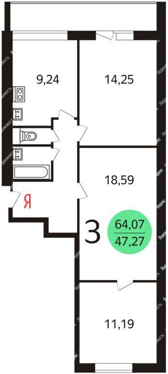 Продажа трёхкомнатной квартиры Москва, метро Водный стадион, Пулковская улица 19к3, цена 17000000 рублей, 2021 год объявление №690886 на megabaz.ru
