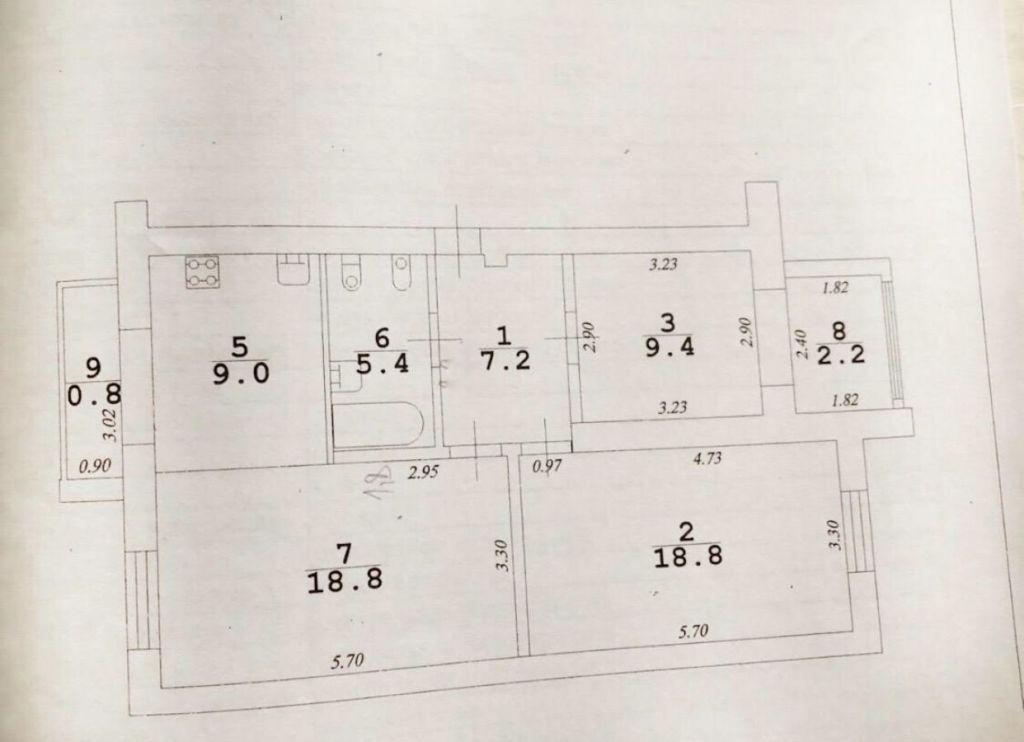 Продажа трёхкомнатной квартиры Москва, метро Чеховская, Страстной бульвар, цена 3500000 рублей, 2021 год объявление №436434 на megabaz.ru