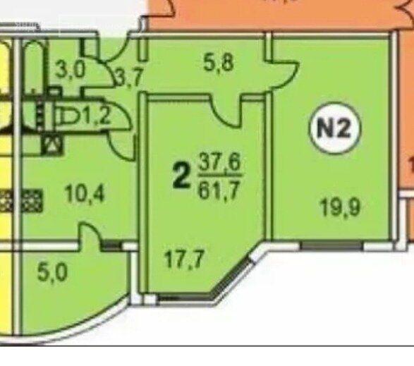 Продажа двухкомнатной квартиры Химки, метро Планерная, Молодёжная улица 64, цена 9950000 рублей, 2021 год объявление №593823 на megabaz.ru