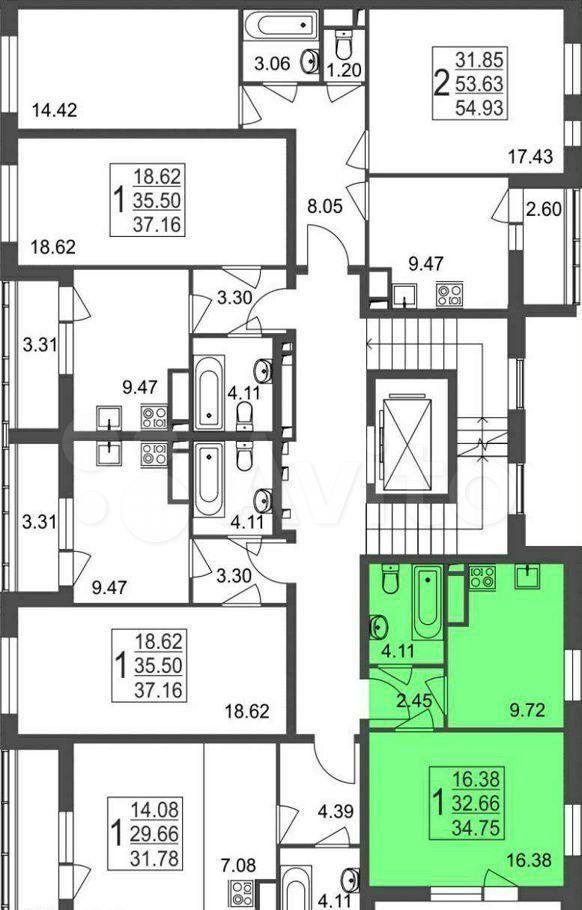 Продажа однокомнатной квартиры рабочий посёлок Нахабино, улица Белобородова, цена 5150000 рублей, 2021 год объявление №708861 на megabaz.ru