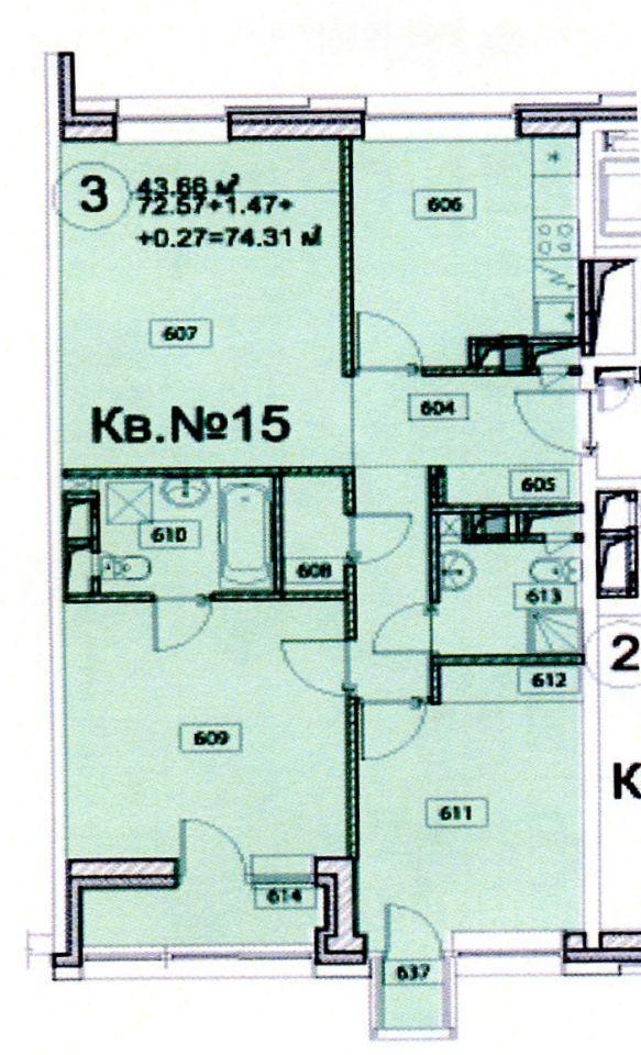 Продажа трёхкомнатной квартиры поселок Отрадное, метро Пятницкое шоссе, Лесная улица 17, цена 13000000 рублей, 2021 год объявление №650807 на megabaz.ru