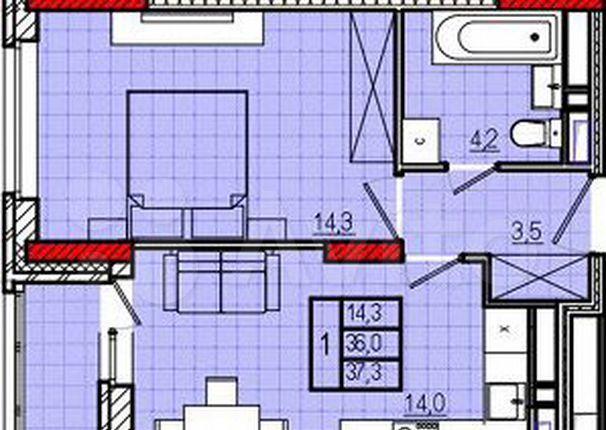 Аренда однокомнатной квартиры Долгопрудный, бульвар Космонавта Сереброва А.А. 4, цена 35000 рублей, 2021 год объявление №1355670 на megabaz.ru