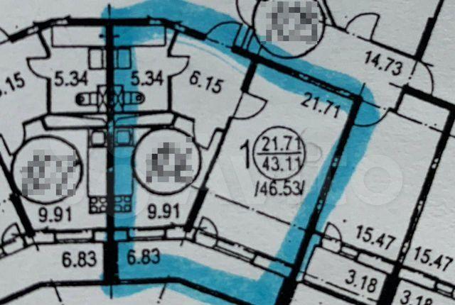 Продажа однокомнатной квартиры Истра, улица Главного Конструктора В.И. Адасько 7к2, цена 6300000 рублей, 2021 год объявление №402412 на megabaz.ru