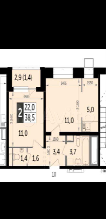 Продажа двухкомнатной квартиры поселок Битца, метро Улица Старокачаловская, цена 7150000 рублей, 2021 год объявление №627045 на megabaz.ru