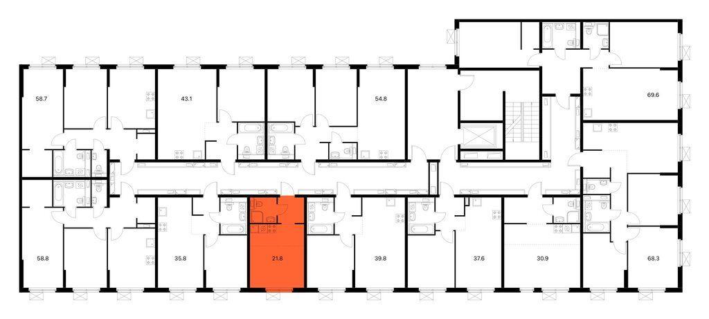 Продажа студии поселок Ильинское-Усово, Архангельская улица 4, цена 4500000 рублей, 2021 год объявление №632228 на megabaz.ru