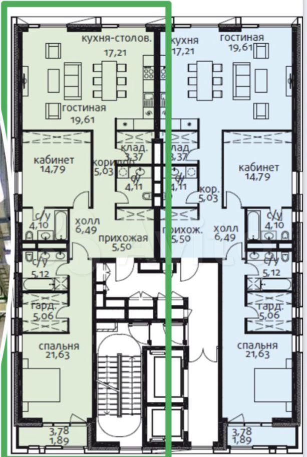 Продажа двухкомнатной квартиры Москва, метро Фрунзенская, цена 110000000 рублей, 2021 год объявление №616260 на megabaz.ru