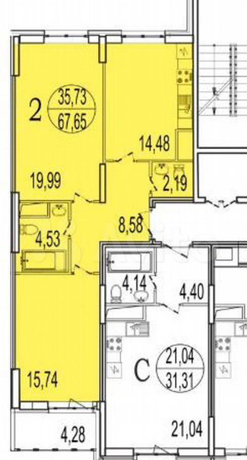 Продажа двухкомнатной квартиры Реутов, улица Октября 48, цена 10500000 рублей, 2021 год объявление №599242 на megabaz.ru