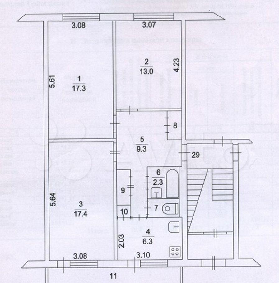 Продажа трёхкомнатной квартиры поселок Кировский, цена 3000000 рублей, 2021 год объявление №633352 на megabaz.ru
