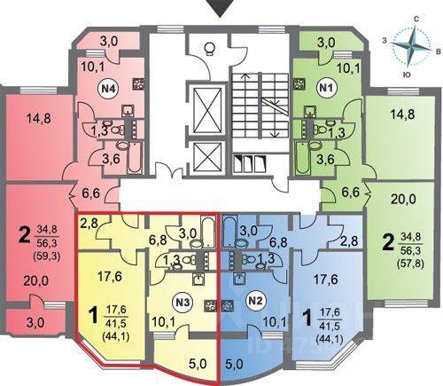 Продажа однокомнатной квартиры Москва, метро Бунинская аллея, улица Александры Монаховой 109к4, цена 9500000 рублей, 2021 год объявление №617986 на megabaz.ru