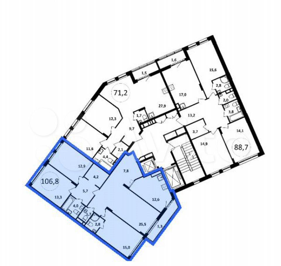 Продажа четырёхкомнатной квартиры Москва, метро Коньково, цена 21700000 рублей, 2021 год объявление №601452 на megabaz.ru