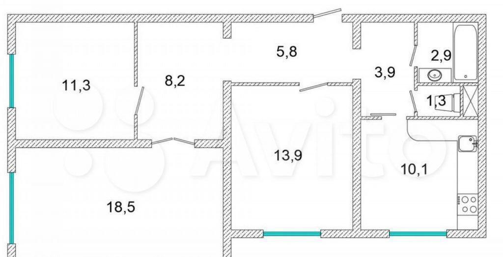 Продажа трёхкомнатной квартиры Москва, метро Братиславская, улица Верхние Поля 22к1, цена 13200000 рублей, 2021 год объявление №602175 на megabaz.ru
