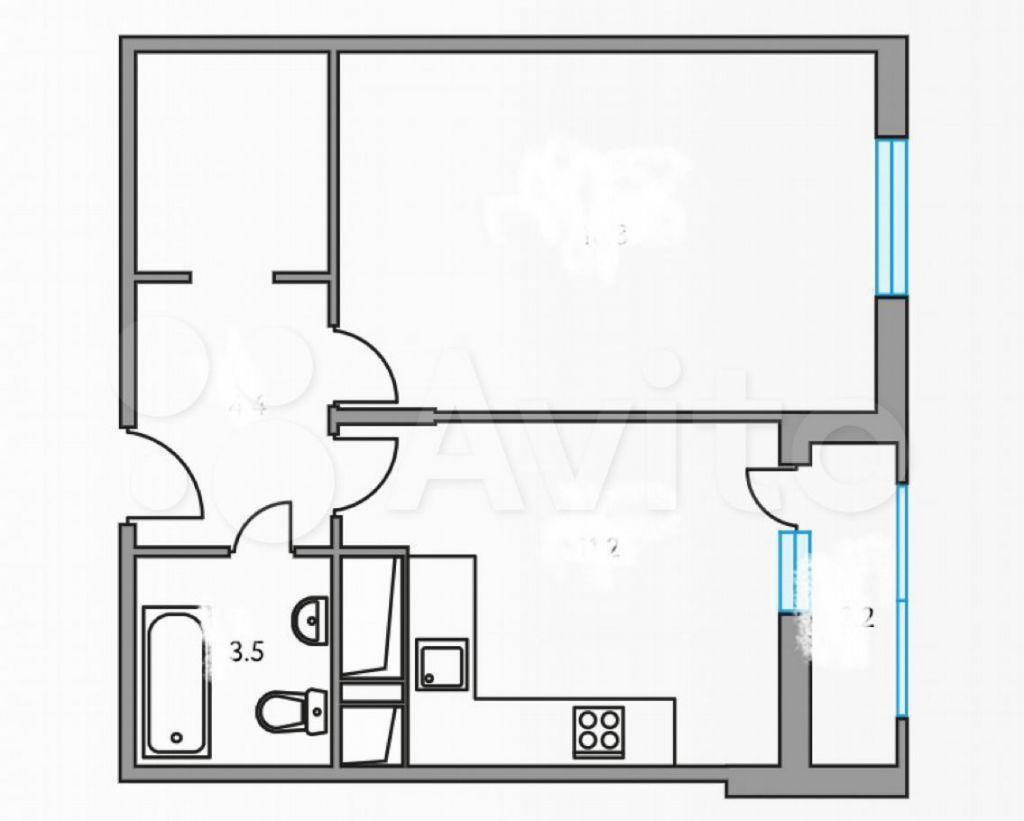 Продажа однокомнатной квартиры рабочий поселок Новоивановское, бульвар Эйнштейна 3, цена 6200000 рублей, 2021 год объявление №576658 на megabaz.ru