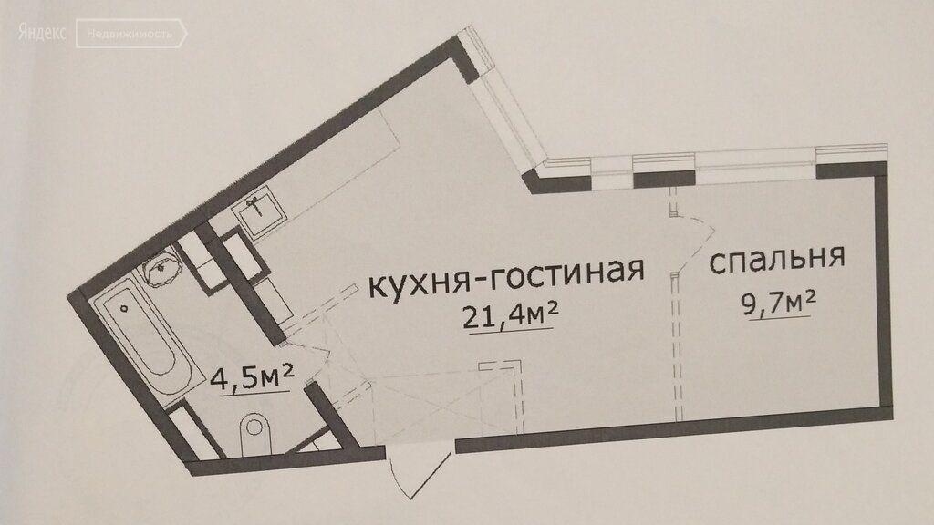 Продажа однокомнатной квартиры Химки, улица Чайковского 5, цена 7500000 рублей, 2021 год объявление №602354 на megabaz.ru