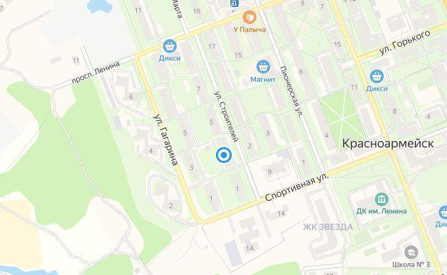 Продажа однокомнатной квартиры Красноармейск, улица Строителей 1, цена 1800000 рублей, 2021 год объявление №513864 на megabaz.ru
